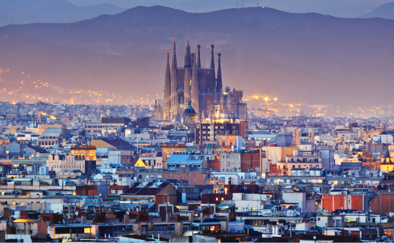 Vista panorámica de la ciudad de Barcelona