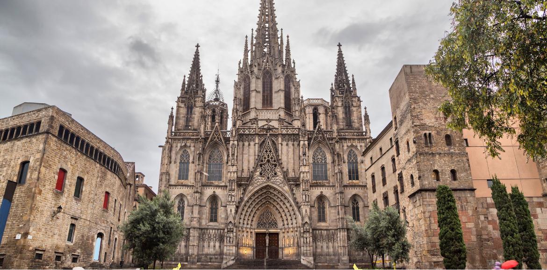 Imagen de la Catedral de estilo gótico de Barcelona